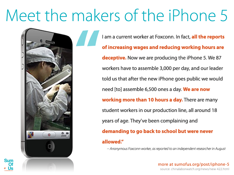 iPhone 5 factory worker